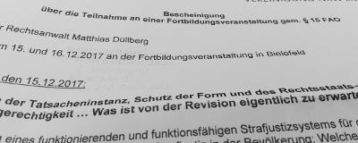 15.-16.12.17 Revisionsrecht in Bielefeld